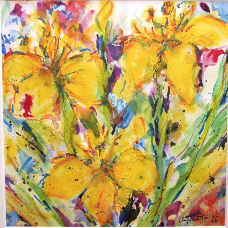 Canal Irises - SOLD