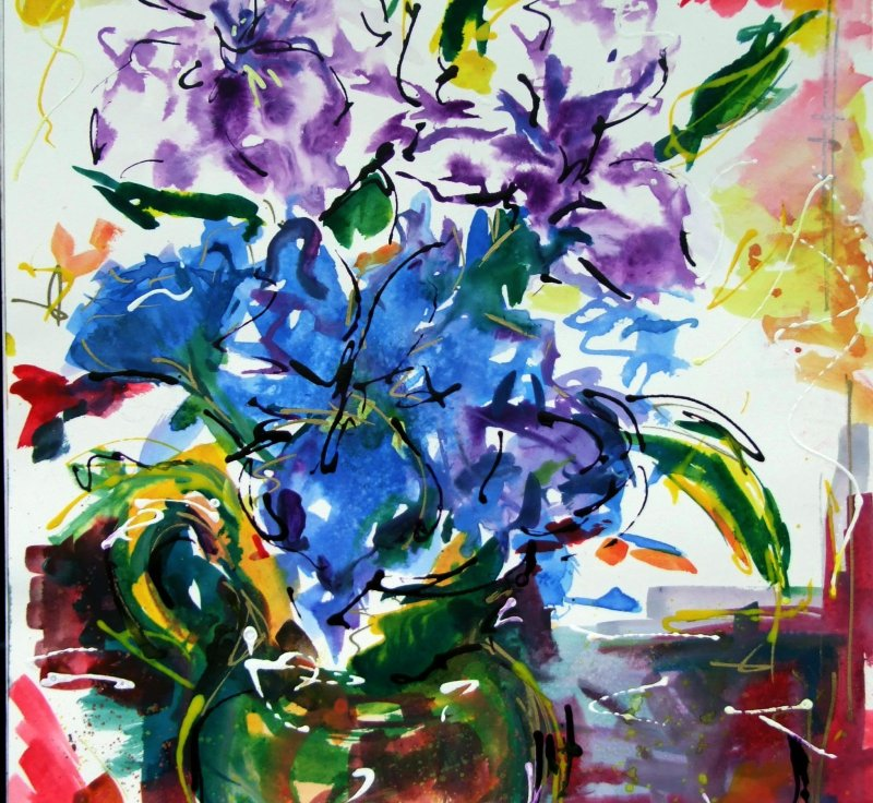 Purple Lillies - SOLD
