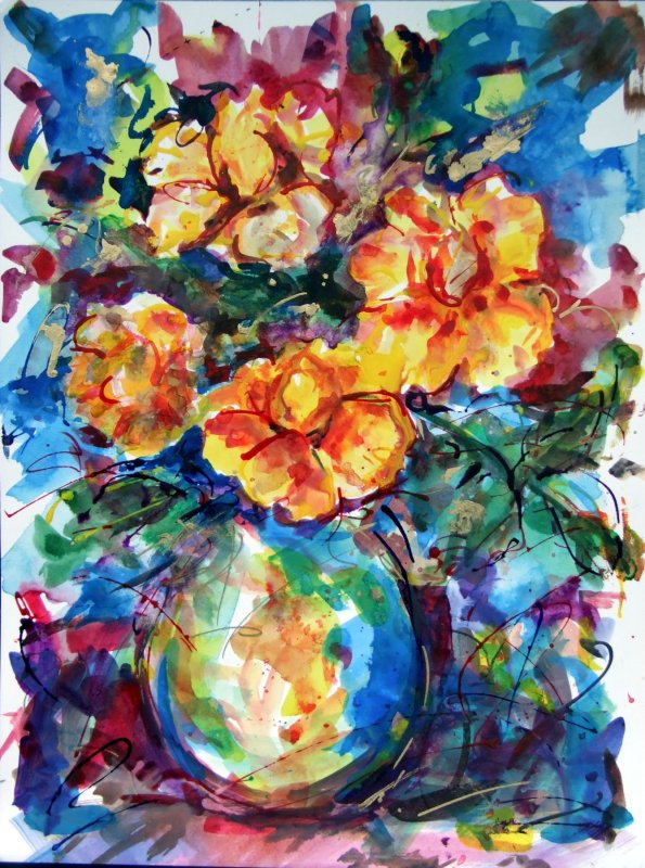 Yellow Roses - SOLD