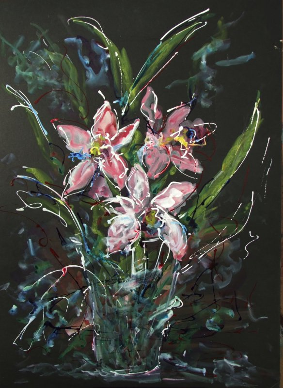 Pink Irises - SOLD