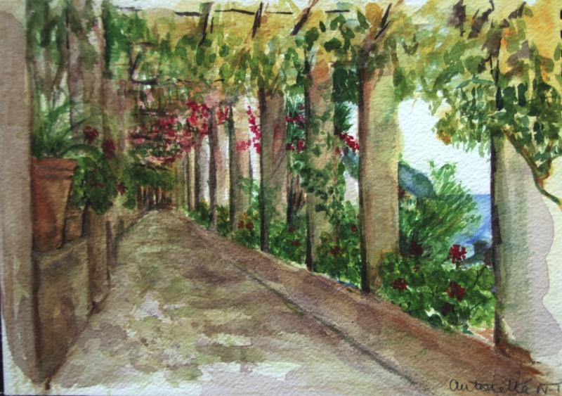 Amalfi - Hotel Cappucini leading to the lemon groves.