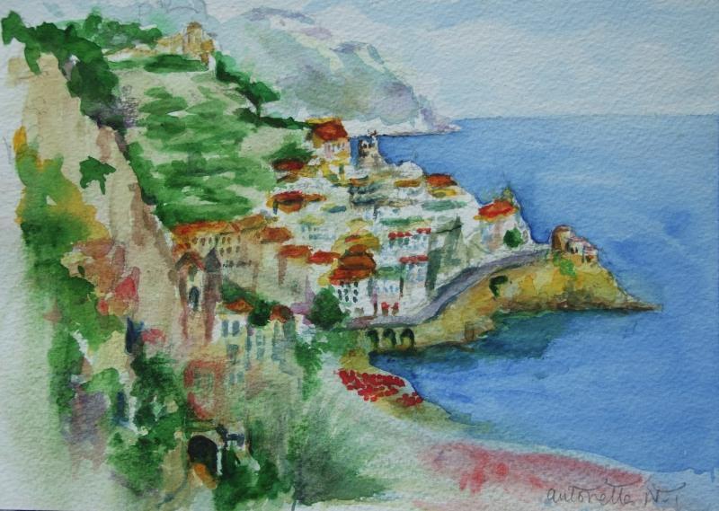 Amalfi from Hotel Cappucini